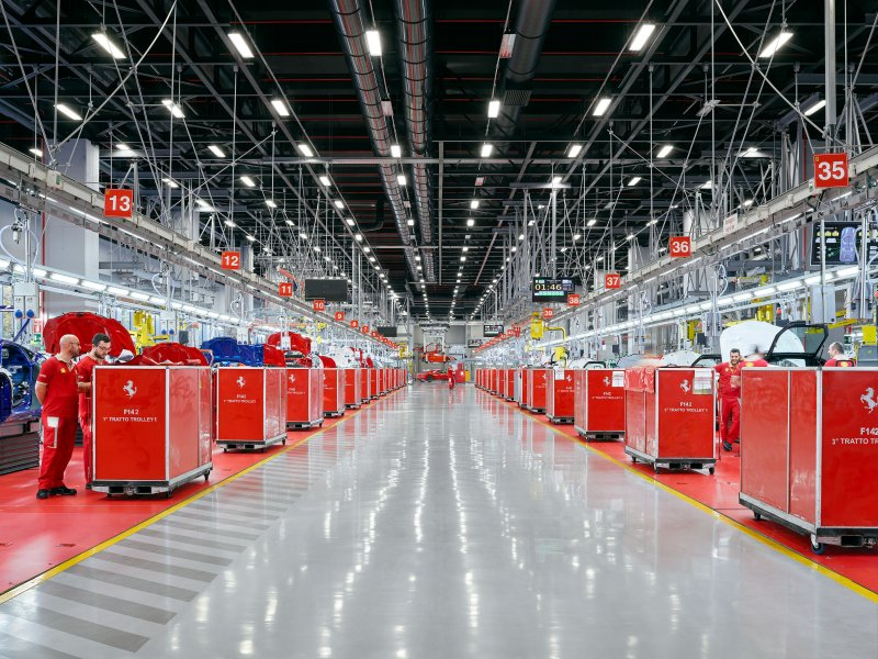 Ferrari production. Maranello, Italy.