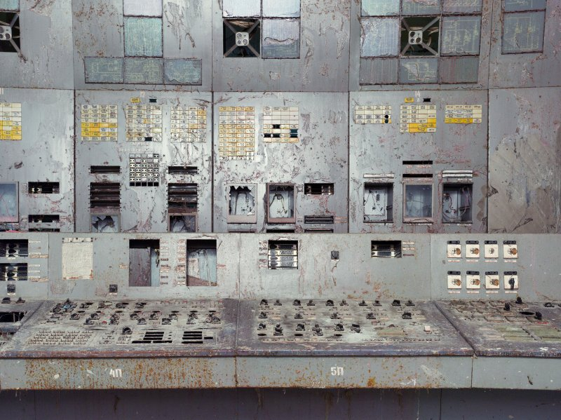 Reactor 4 Control Room. Chernobyl Nuclear Power Plant. Ukraine.