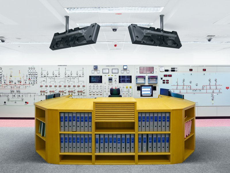 Control Room (mockup for training). Hartlepool Nuclear Power Station. UK.